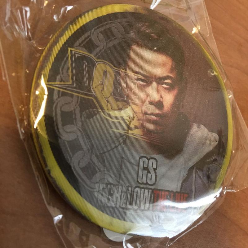 GS/武藤隆志の缶バッチとクリーナー